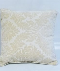 Rope Bordered Cushion Cover in Tan