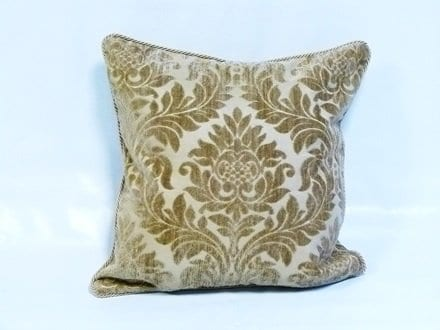 Rope Bordered Cushion Cover in Gold