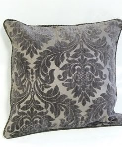 Rope Bordered Cushion Cover in Grey
