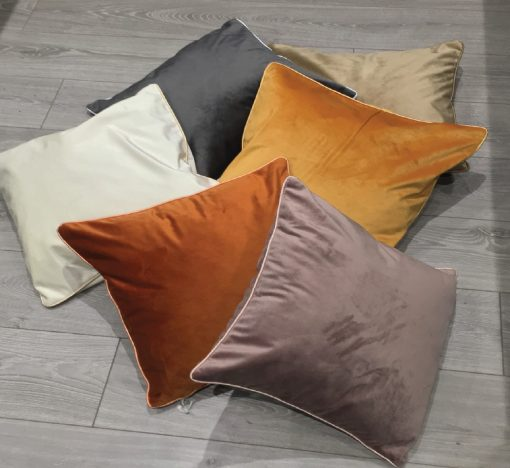 Soft Touch Luxury Cushion Cover in Ochre