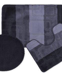 CUBEBLK bath mat set