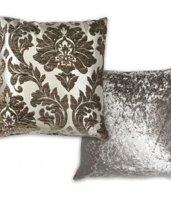 Luxury Chenille Jaquard Cushion Cover in Charcoal