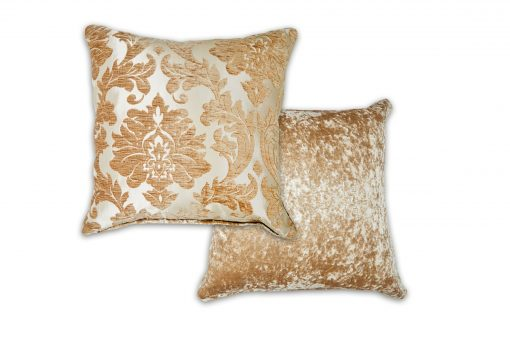 Luxury Chenille Jaquard Cushion Cover in Coffee