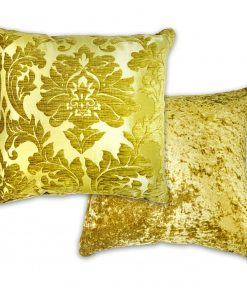 Luxury Chenille Jaquard Cushion Cover in Green