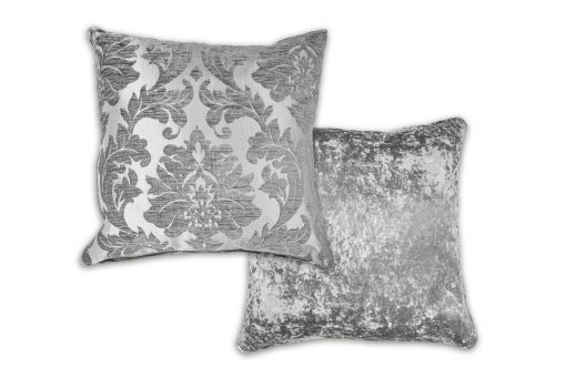 Luxury Chenille Jaquard Cushion Cover in Silver