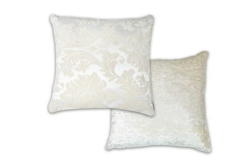 Luxury Chenille Jaquard Cushion Cover in Ivory