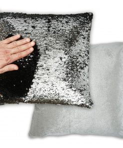 Two Tone Sequin Cushion Cover
