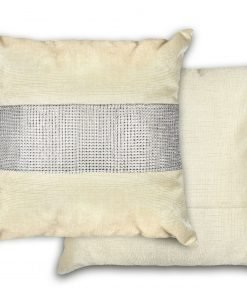 Sequined Velvet Cushion Cover in Mink