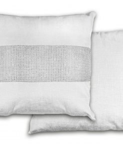 Sequined Velvet Cushion Cover in White