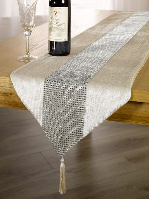 Diamante Table Runner Gold