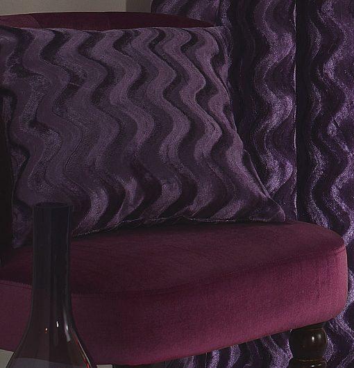 Embossed Velvet Cushion Cover in Heather