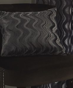 Embossed Velvet Cushion Cover in Silver