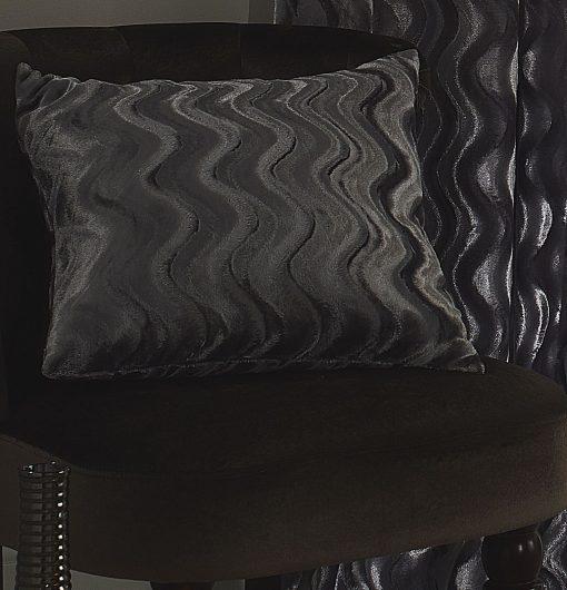 Embossed Velvet Cushion Cover in Silver