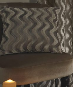 Embossed Velvet Cushion Cover in Taupe