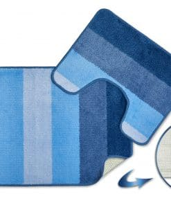 Tonal Stripe 2pc Bathset in Blue