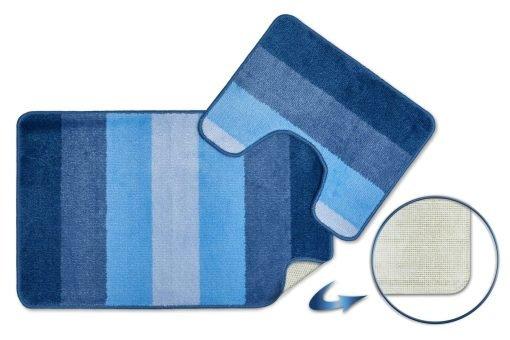 Tonal Stripe 2pc Bathset in Blue