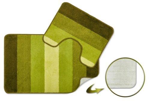 Tonal Stripe 2pc Bathset in Green
