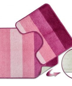Tonal Stripe 2pc Bathset in Pink