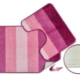 Tonal Stripe 2pc Bathset in Pink