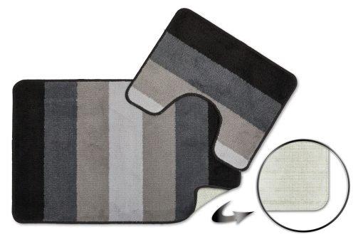 Tonal Stripe 2pc Bathset in Silver
