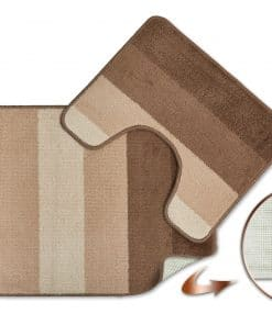 Tonal Stripe 2pc Bathset in Taupe