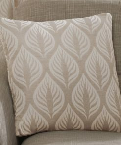 Leaf Design Cushion Cover in Natural