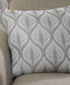 Leaf Design Cushion Cover in Silver