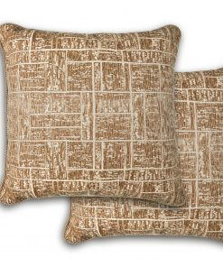 Tonal Jaquard Cushion Cover in Tan