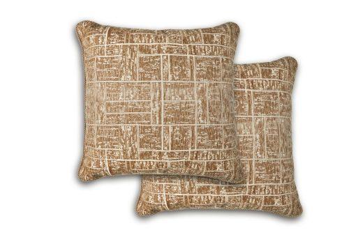 Tonal Jaquard Cushion Cover in Tan
