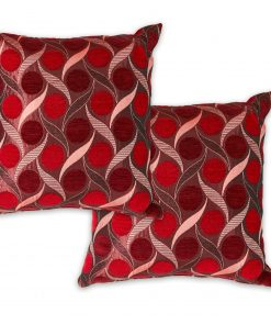 Metallic Chenille Cushion Cover in Burgundy