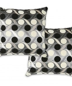 Metallic Chenille Cushion Cover in Black