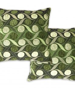 Metallic Chenille Cushion Cover in Green