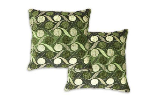 Metallic Chenille Cushion Cover in Green