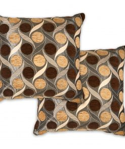 Metallic Chenille Cushion Cover in Chocolate