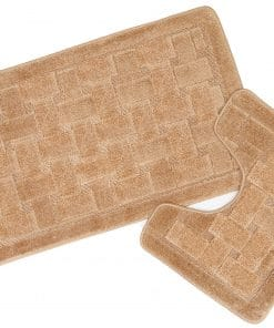 Crosshatch Effect 2pc Bathset in Beige