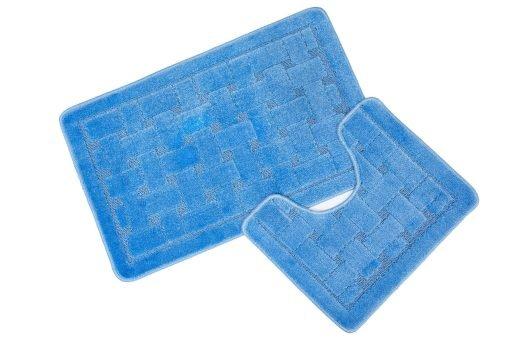 Crosshatch Effect 2pc Bathset in Blue