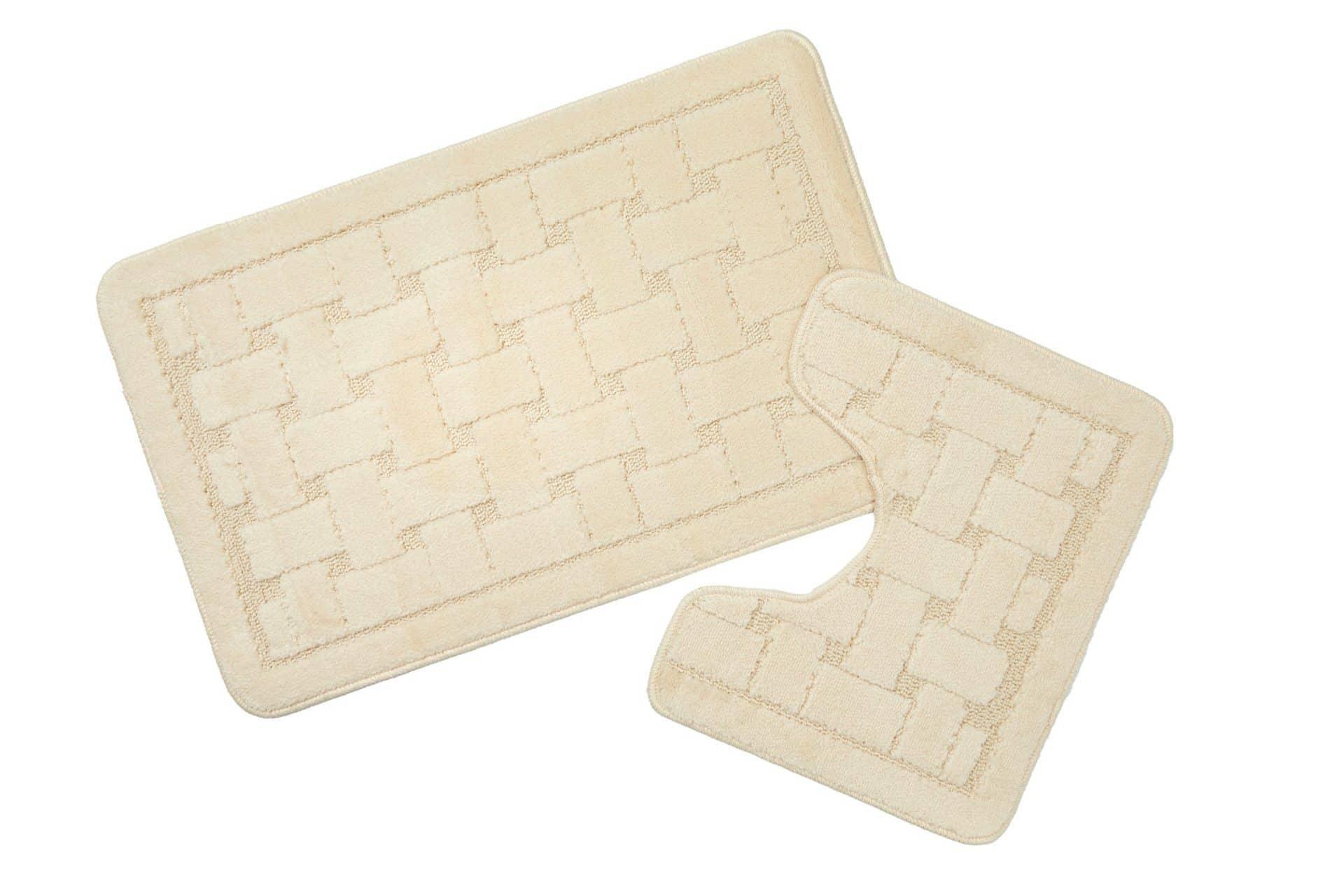 Bath Mat And Pedestal Set White