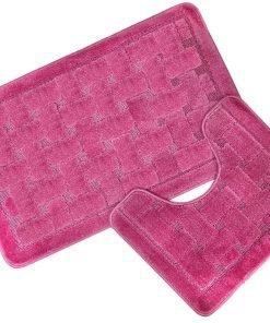 Crosshatch Effect 2pc Bathset in Pink
