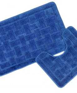 Crosshatch Effect 2pc Bathset in Navy