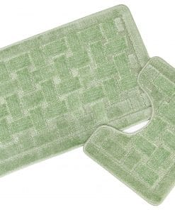 Crosshatch Effect 2pc Bathset in Green