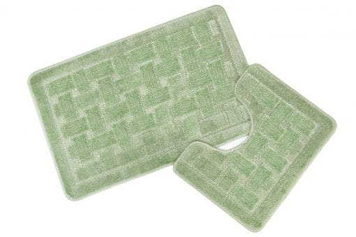 Crosshatch Effect 2pc Bathset in Green