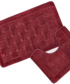 Crosshatch Effect 2pc Bathset in Wine