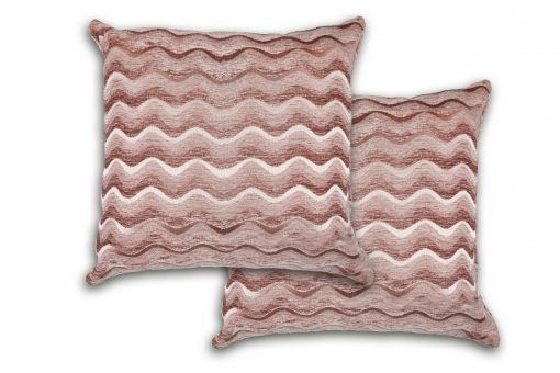 Satin Chenille Cushion Cover in Pink