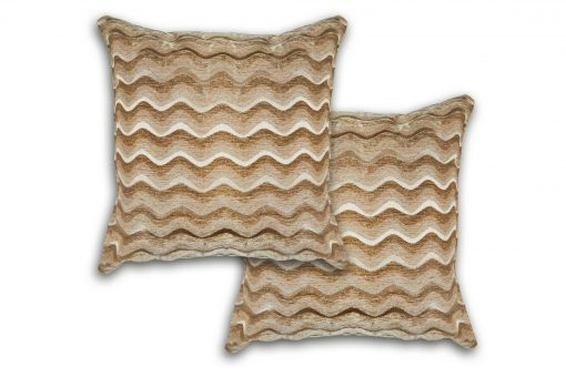 Satin Chenille Cushion Cover in Gold