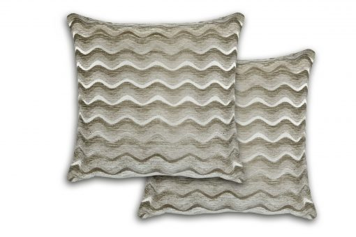 Satin Chenille Cushion Cover in Silver