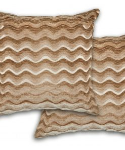 Satin Chenille Cushion Cover in Tan