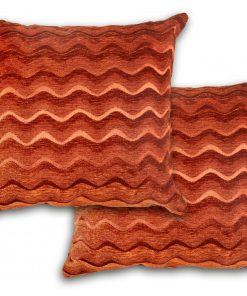 Satin Chenille Cushion Cover in Terracotta