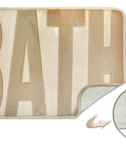 Embossed Memory Foam Bathmat in Natural