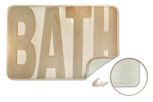 Embossed Memory Foam Bathmat in Natural