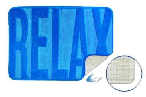 Embossed Memory Foam Bathmat in Blue